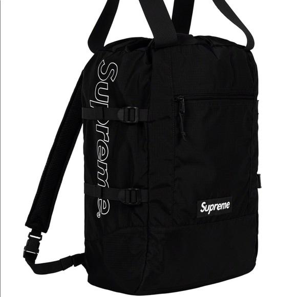 5dfcd443b0 Supreme black tote bag. NWT. Supreme. $190 $200. Size. OS